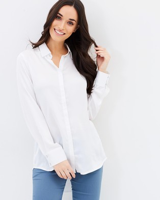 Forcast – Banks Collared Blouse – Tops (Ivory)