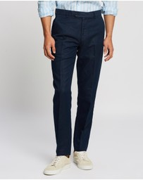 BROOKS BROTHERS - Milano Fit Linen & Cotton Chino Pants