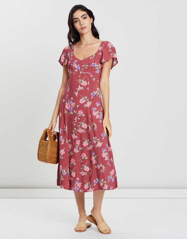outlet for sale buy online best sneakers Rosa Belle Midi Dress by Auguste The Label Online | THE ICONIC ...
