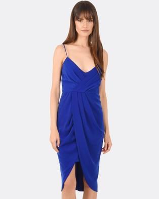 Forcast – Celine Drape Dress Cobalt