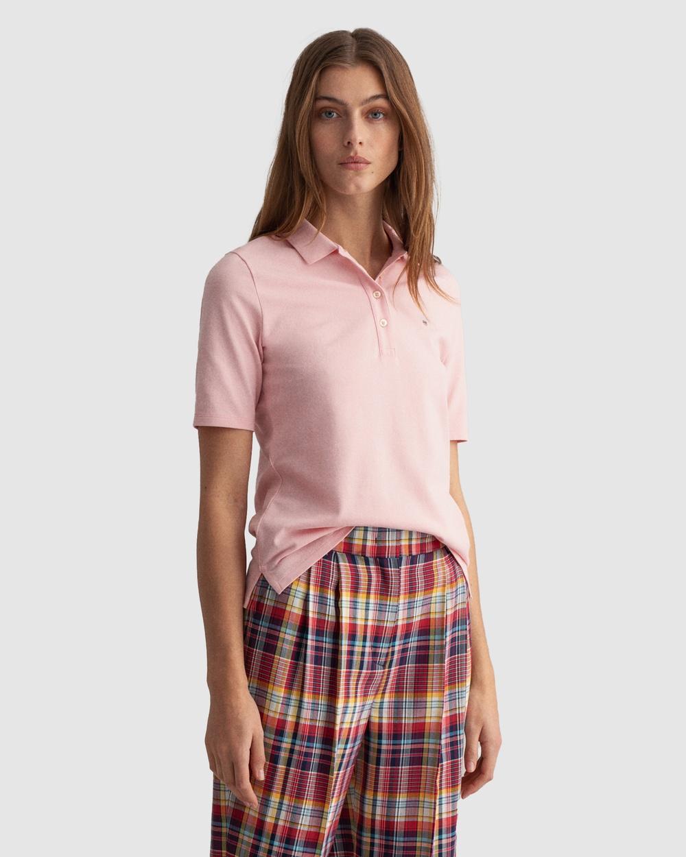 Gant Original Long Short Sleeve Piqué Polo Shirt Shirts & Polos PREPPY PINK Long-Short