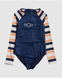Roxy - Girls 8-14 Made For ROXY Long Sleeved UPF 50 Rash Vest Onesie
