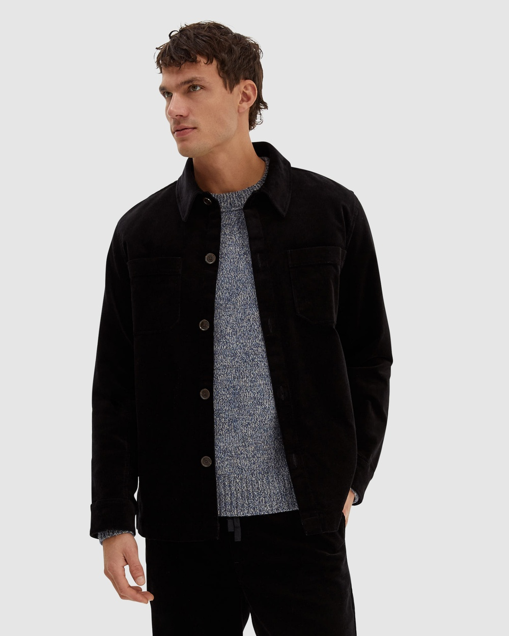 SABA SB Clive Cord Shacket Coats & Jackets Black