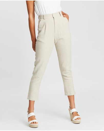 Staple The Label Florence Cropped Pants Natural