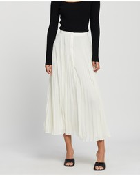 Theory - Pleated Button-Down Skirt