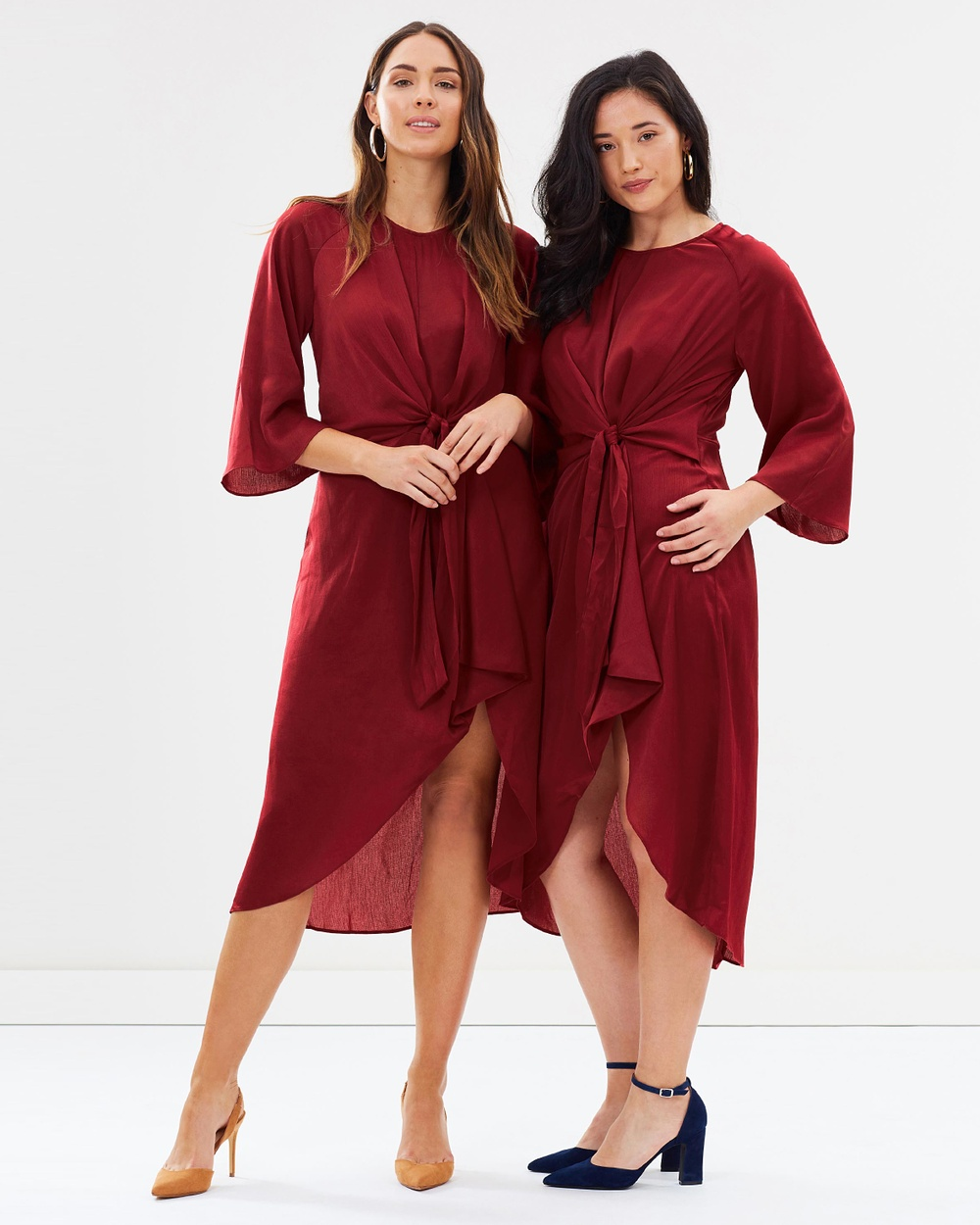 Forcast Kyla Knotted Dress Dresses Rust Kyla Knotted Dress