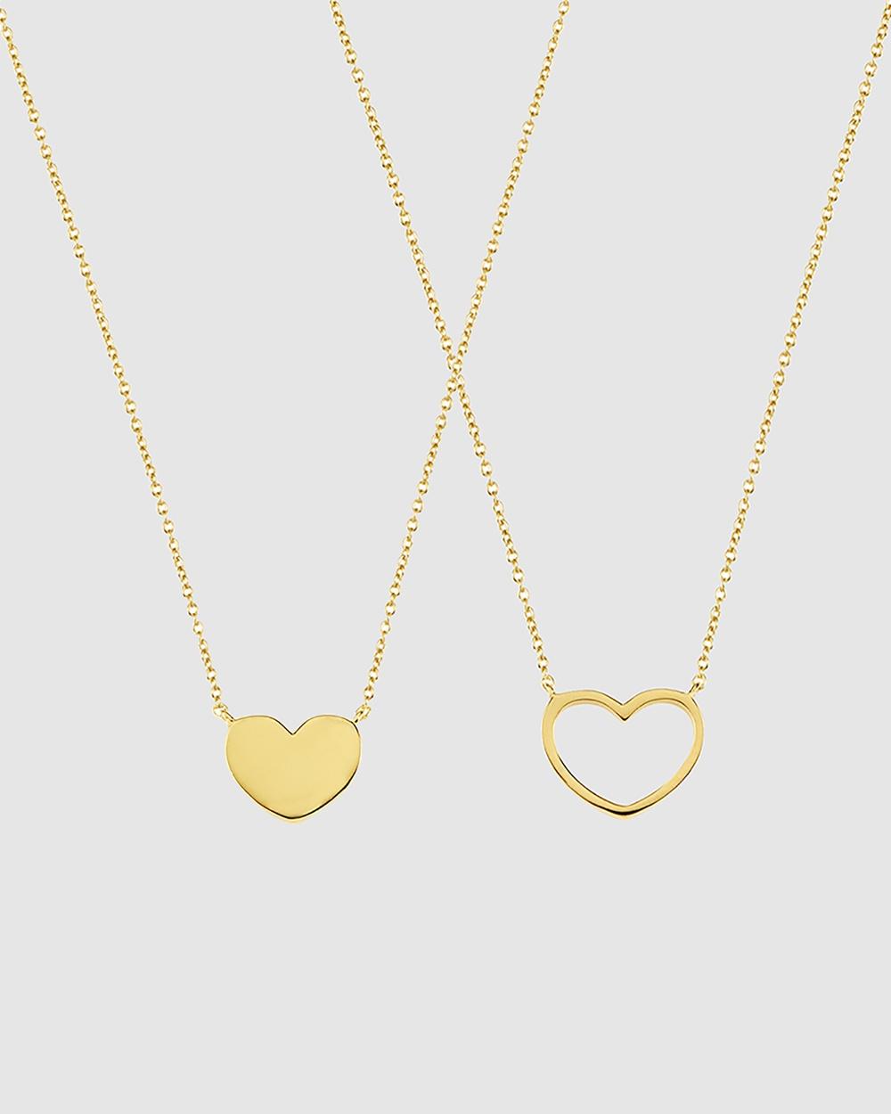 Secret Sisterhood Love Heart Friendship Necklaces Jewellery Gold