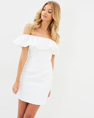 Buy Atmos & Here - Freya Off Shoulder Brocade Dress White -  shop Atmos & Here dresses online