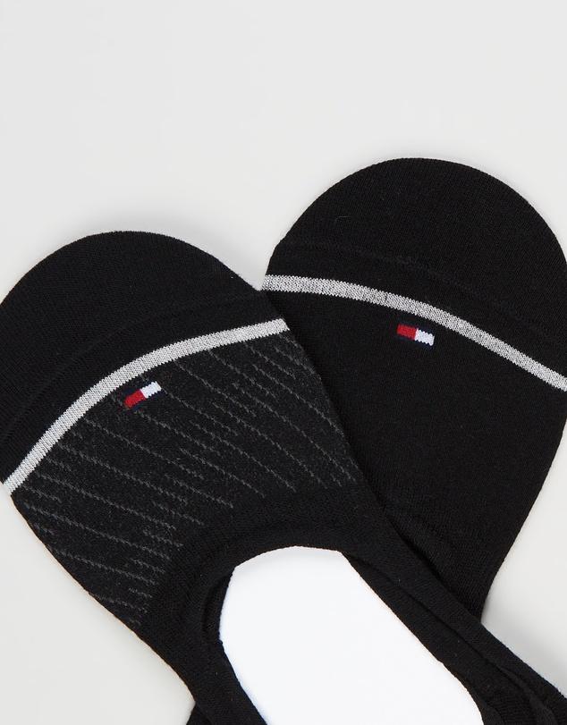 Women Bias Open Stripes Footie Socks 2-Pack
