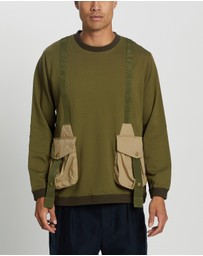 White Mountaineering - Hunting Pocket Taped Sweatshirt