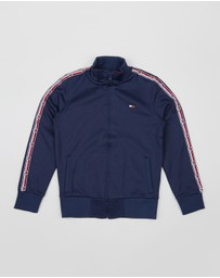 Tommy Hilfiger Kids - Taped Track Zip Sweatshirt - Teens