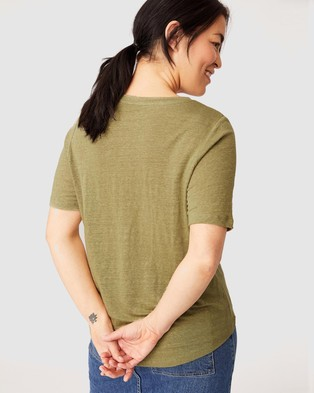 Ceres Life Linen Weekend Tee - T-Shirts & Singlets (Dill)