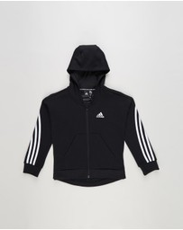 adidas Performance - 3-Stripes Full Zip Hoodie - Kids - Teens