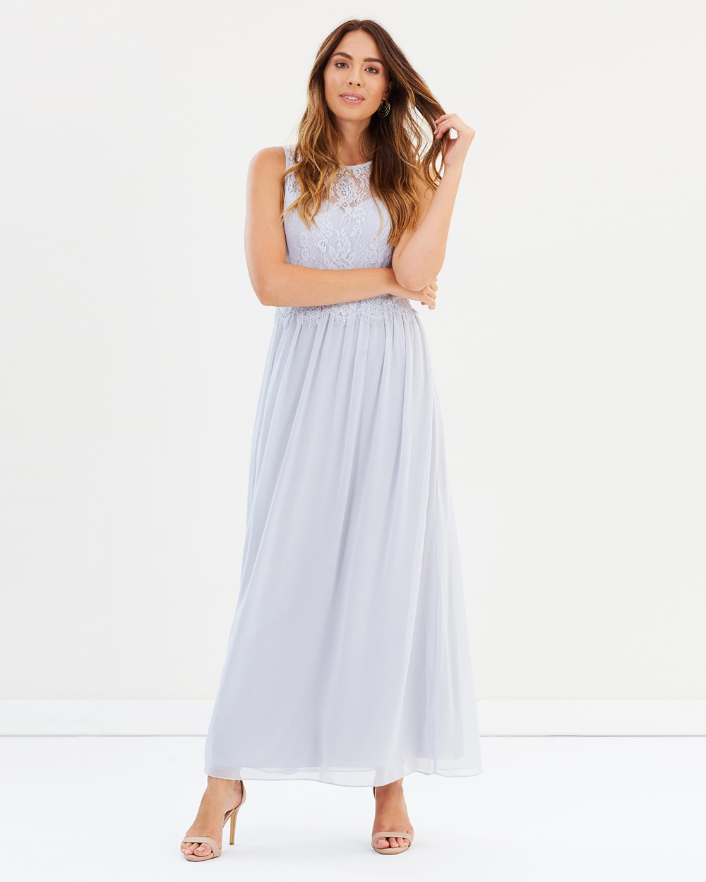Dorothy Perkins Grace Lace Maxi Dress Bridesmaid Dresses Grey Grace Lace Maxi Dress