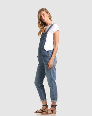 Soon Maternity Alice Denim Maternity Overalls - Jumpsuits & Playsuits (BLUE)