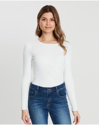 Karen Millen - Ribbed Fitted Top