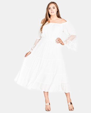 City Chic – Ethereal Maxi White