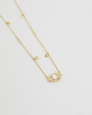 Luv Aj The Evil Eye Shaker Gold Necklace - Jewellery (Gold)
