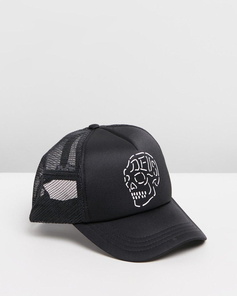 ICONIC EXCLUSIVE - Venice Skull Trucker Hat by Deus Ex Machina Online  8067365d404e