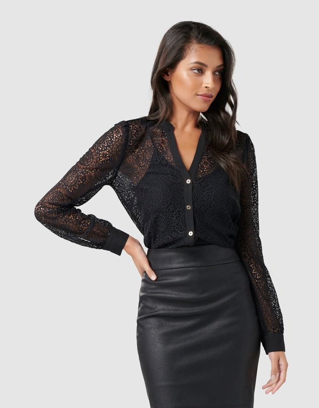 Forever New - Allysia Lace Shirt