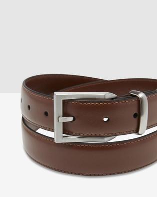 Oxford Arlen Leather Belt - Belts (Brown)