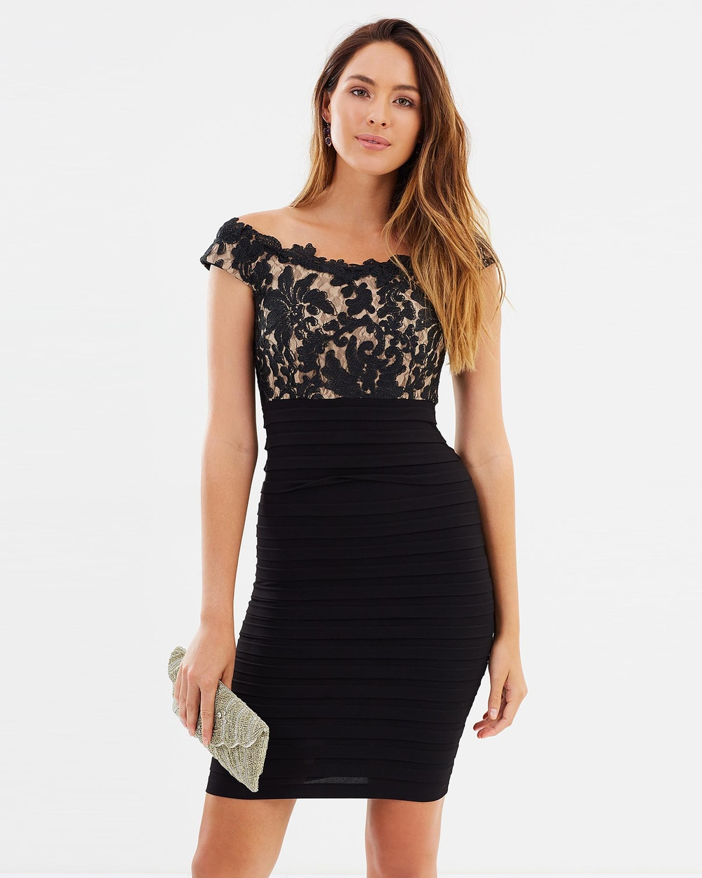 Montique Abigail Lace Dress Bodycon Dresses Black Abigail Lace Dress