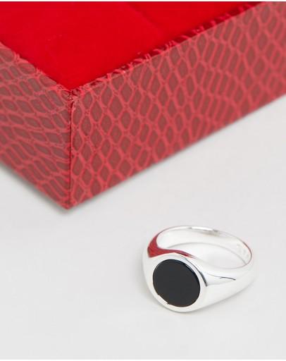 Stolen Girlfriends Club Members Only Ring - Mini Black Onyx
