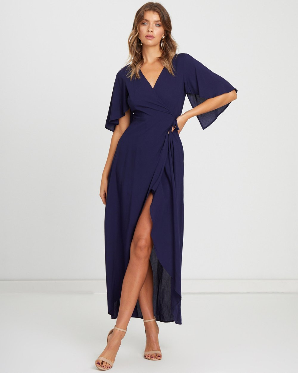 8d878b74e321 ICONIC EXCLUSIVE - Lina Wrap Maxi Dress by Atmos Here Online