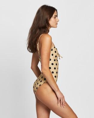 Faithfull The Brand Mumbai One Piece - One-Piece / Swimsuit (Emelda Dot Print - Biscuit)