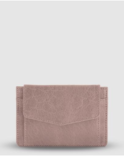 Cobb & Co Banksia Leather Card Holder Blush