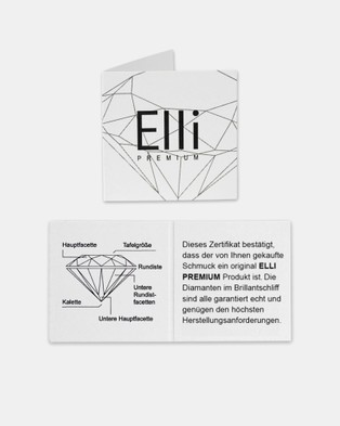 Elli Jewelry Ring Engagement Classic Elegant Diamond 002 ct 925 Sterling Silver - Novelty Gifts (Gold)