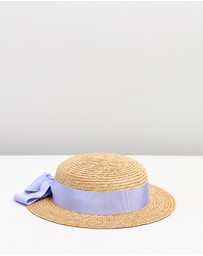 Morgan & Taylor - Holly Mini Boater Hat - Kids-Teen