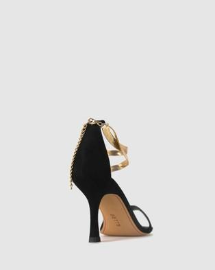 Betts Cript Ankle Chain Stilettos - Sandals (Black)