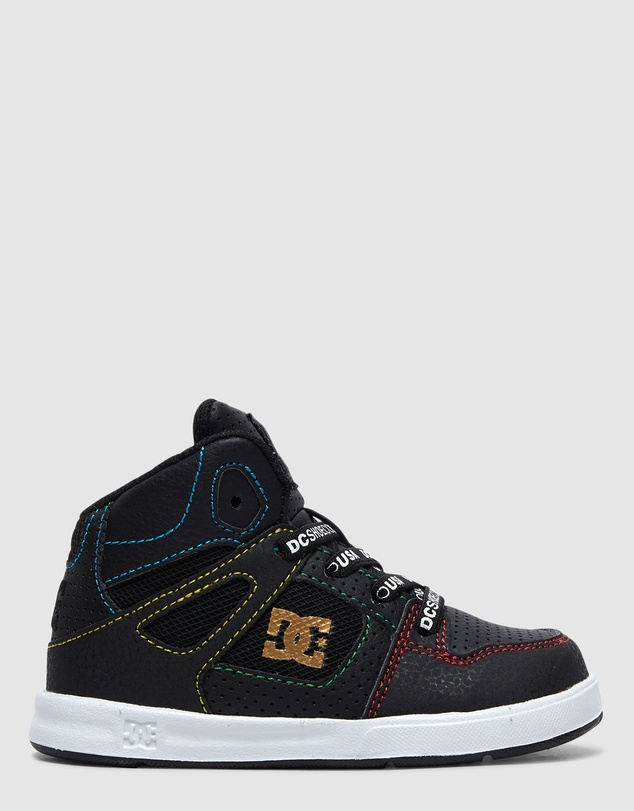 DC Shoes - Toddler Pure High Top Elastic Laced Shoe