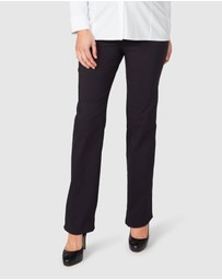 Pea in a Pod Maternity - Lisa Fold Waist Straight Leg Pants