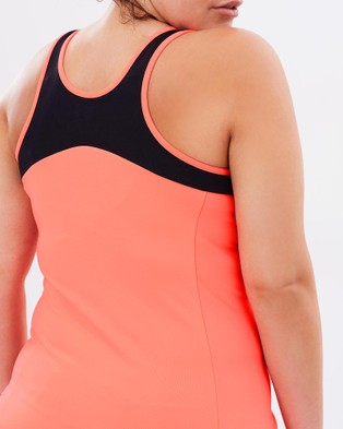 Curvy Chic Sports Workout Tank - Muscle Tops (Apricot)
