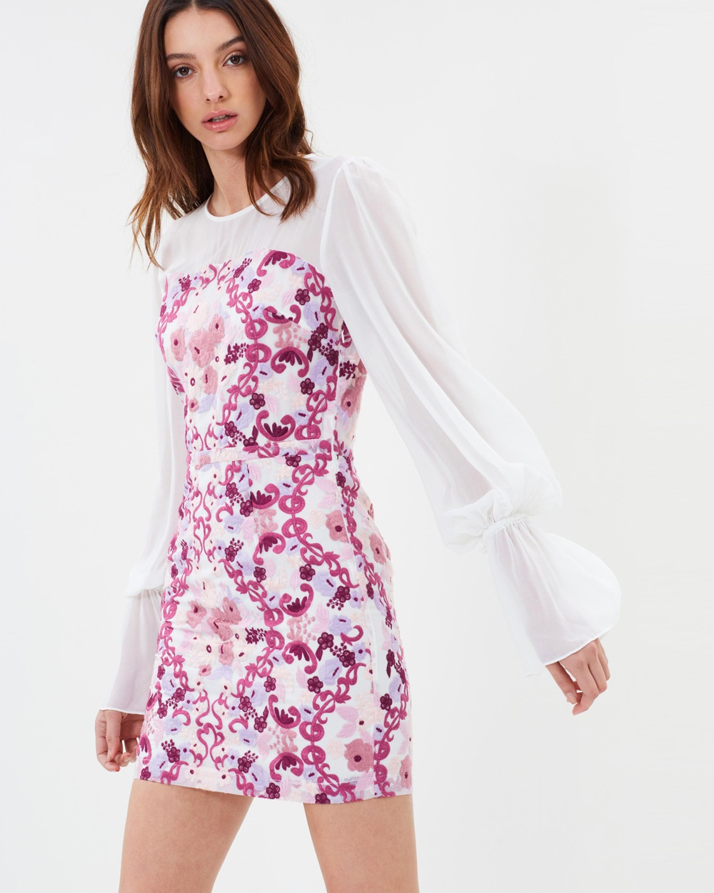 We Are Kindred Mulberry Rose Elisabetta Mini Dress