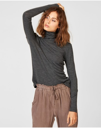 Primness Bowie Top Charcoal