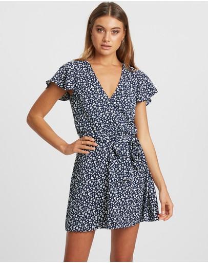 Calli Honey Mini Dress Navy Daisy
