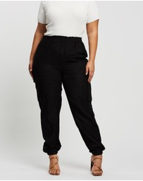 Missguided Curve - Plus Ruched Detail Double Pocket Trousers