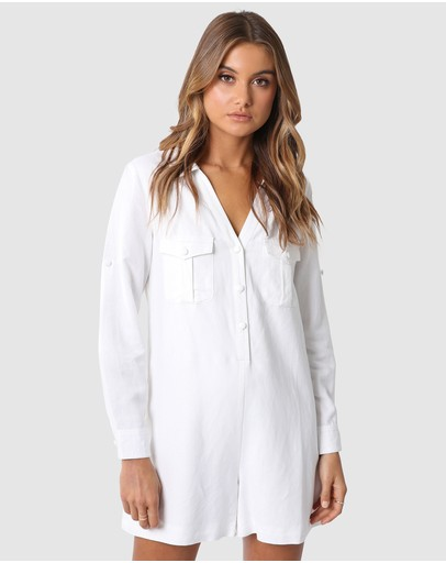 Madison The Label Kenzie Playsuit White