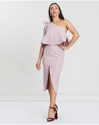Missguided - One-Shoulder Bow Sleeve Midi Dress