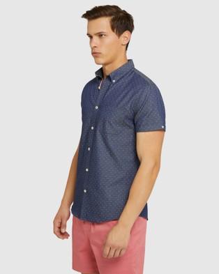 Oxford Tottenham Short Sleeve Shirt - Casual shirts (Blue)