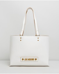 LOVE MOSCHINO - Logo Plaque Internal Compartment Tote
