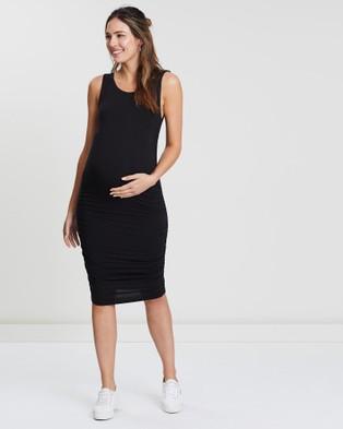 Angel Maternity Maternity Best Seller Bamboo Bodycon Dress - Bodycon Dresses (Black)