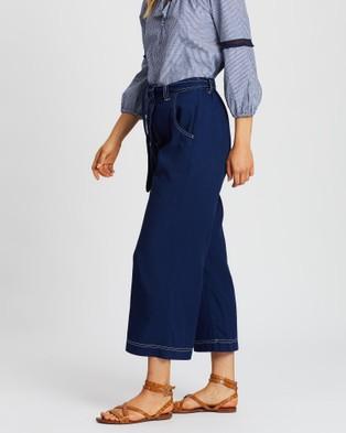 Gysette Devi Wide Leg Pants - Pants (Indigo)