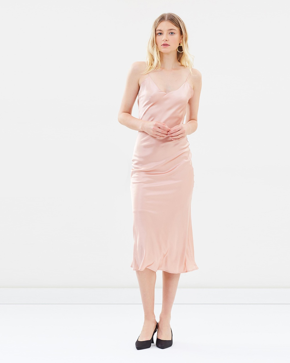 Hansen & Gretel Demi Silk Dress Dresses Dusty Pink Demi Silk Dress
