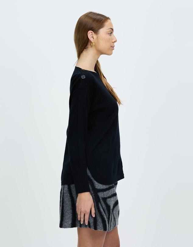 Women Cute As A Button Knit