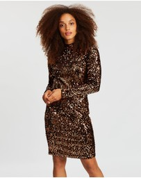 Wallis - Velvet Sequin Swing Dress