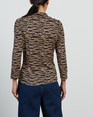 Whistles - Tiger Leopard Print High Neck Top - Tops (Multi) Tiger Leopard Print High Neck Top